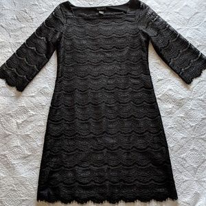 White House Black Market Black Lace Dress